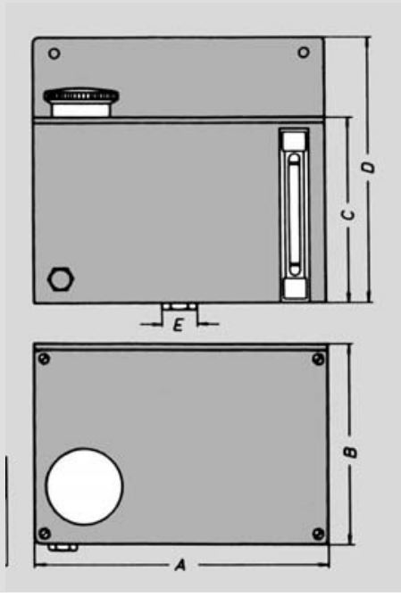 Misure ingrassatore OBH Alluminio